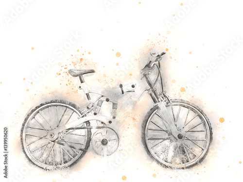 rower-na-jasnym-tle