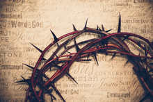 Crown Of Thorns With Jesus Nam...