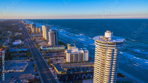 Daytona Beach aerial photograph Wallpaper Mural