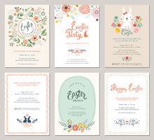Cute Happy Easter Templates Wi...