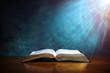 canvas print picture - Open Bible