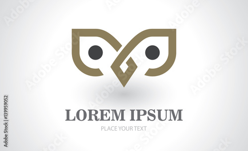 Foto op Plexiglas Uilen cartoon owl icon abstract logo