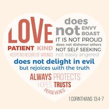 Bible Verse For Evangelist, 1 Corinthians 13 4-7 Love Is Patient