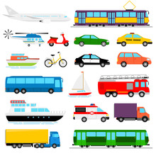 Urban Transport Colored Vector...