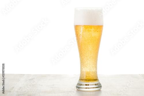 Foto op Plexiglas Bier / Cider beer on white
