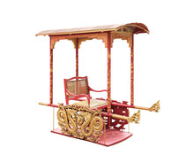 Sedan Chair / Traditional Chinese Sedan Chair On White Background With Clipping Path.