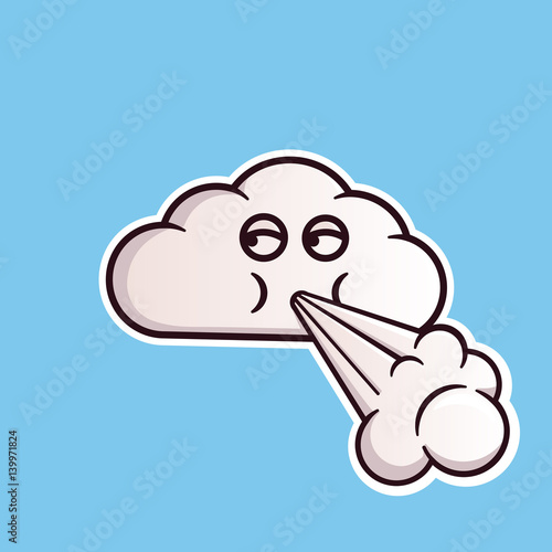 Cloud Emoticon Blowing Wind Cute Vector Emoji Editable Sticker In Eps10 Buy This Stock Vector And Explore Similar Vectors At Adobe Stock Adobe Stock Emoji meaning a face blowing the wind, as a personification of nature (e.g., mother nature, the north wind) who creates the wind by… cloud emoticon blowing wind cute