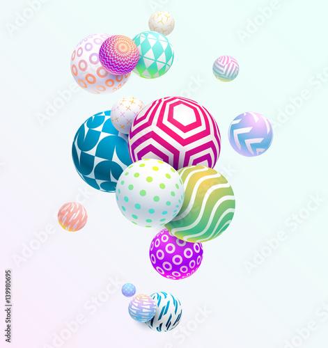 Zdjęcie XXL Abstrakcjonistyczny kolorowy tło z geometrycznymi elementami