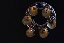 Silver Brooch With Pendants. It Was Believed Ringing Of Pendants Frightens Off Evil Spirits..Norwegian National Costume.