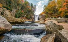 Autumn At Elk Falls River North Carolina