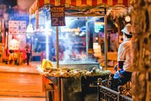 Male Street Fast Food Seller W...