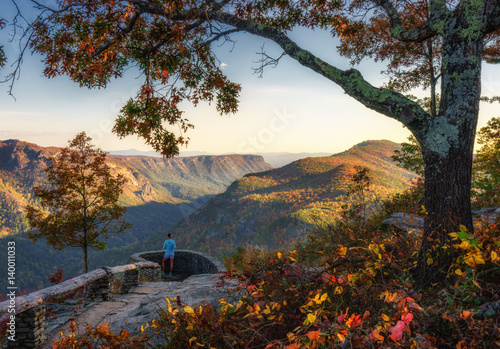 Photo Autumn view of the Linville Gorge Wilderness from Wisemans Point Overlook