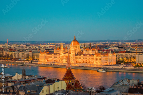 Photo Stands Europa Budapest in Sunset