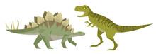 Stegosaurus And Tyrannosaurus ...