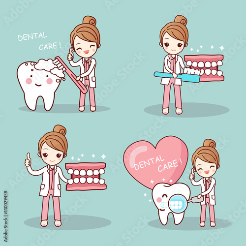dentist and tooth Canvas-taulu