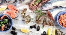 Fresh Seafood. Healthy Diet Food.