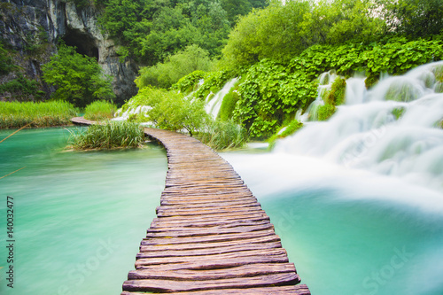 Fototapeta Waterfalls in Plitvice National Park, Croatia