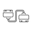Twin Adapter Line icon