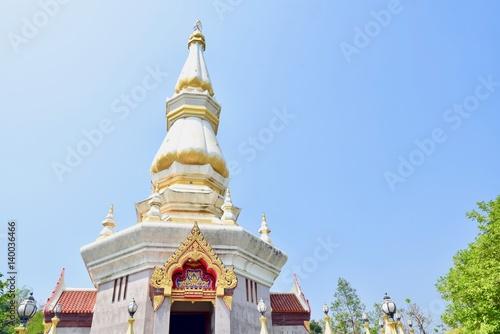 Fotografie, Obraz  Beautiful Pagoda at Wat Hin Mak Peng in Nong Khai Province, Thailand