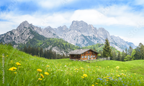 Fotografie, Obraz  Traditional austrian alpine cabin, Salzburger Land, Austria