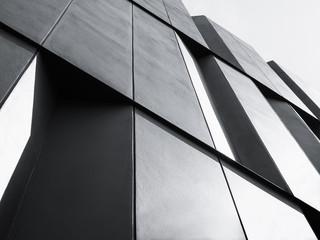 Architektura szczegół Fasadowy projekt Nowożytny budynek Czarny I Biały