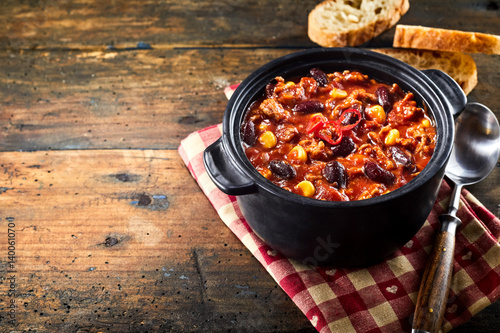 Photo  Chili con carne stew