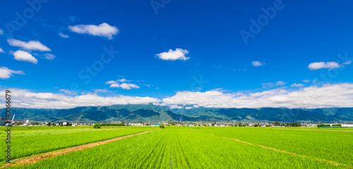 Foto  信州 安曇野の田園風景