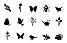 Frühling Iconset15 - Schwarz
