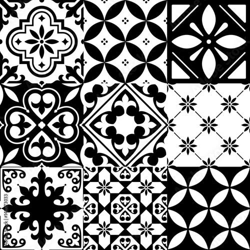 hiszpanskie-kafelki-marokanski-wzor-plytek-bez-szwu-czarny-wzor