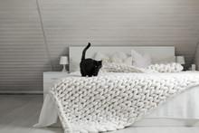 White Nordic Bedroom Interior ...