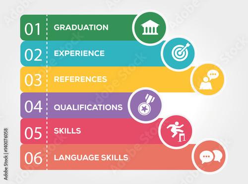 curriculum vitae infographic concept