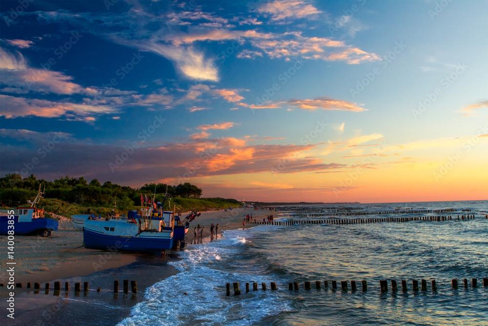 Fototapeta Wieczorem na plaży
