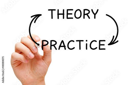 Fotografía  Theory Practice Arrows Concept