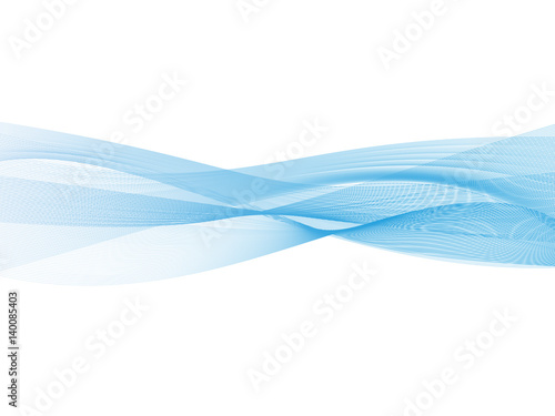 Abstract Transparent Blue Wave Background Smoke Effect