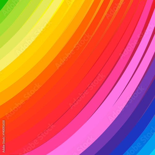 Foto op Plexiglas Abstract wave Stripes abstract color background. Vector Illustration