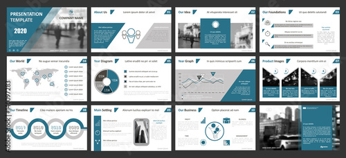 Fotografie, Obraz  Creative set of abstract infographic elements