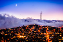 Sutro Tower And Twin Peaks In ...