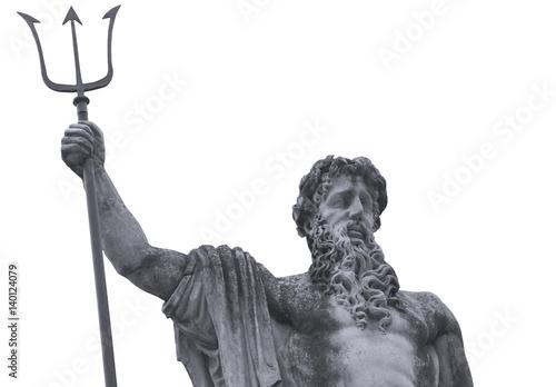 Photo Antique statue of god of seas and oceans Neptune (Poseidon)