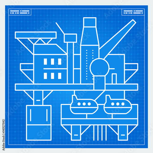 Oil platform rig blueprint scheme buy this stock vector and oil platform rig blueprint scheme malvernweather Choice Image