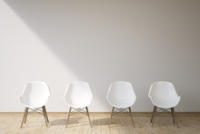 Four White Chairs