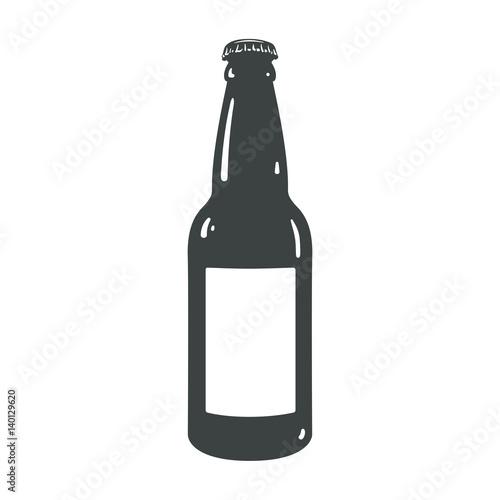 craft beer bottle template vintage brewery bottles sign symbol Canvas Print