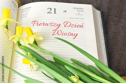 Pierwszy dzień wiosny, 21 marzec - fototapety na wymiar