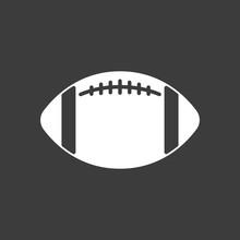 Isolated Vector Illustration Of  An American Football Balloon