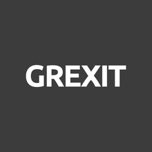 Isolated Vector Illustration Of  The Word GREXIT