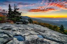 North Carolina, Scenic Autumn Sunrise, Blue Ridge Parkway