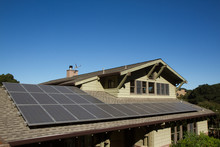 Solar Panels On Roof Of House....