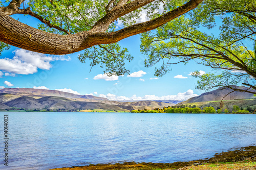 Lake Aviemore Mountain Scene Wallpaper Mural