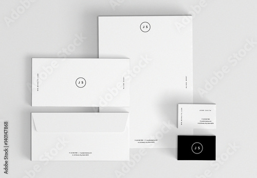 Minimalist Stationery Set Buy This Stock Template And