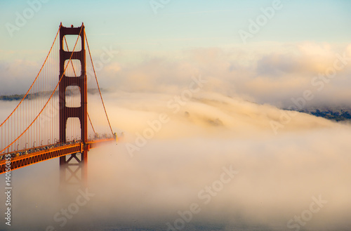Golden Fogset Canvas Print