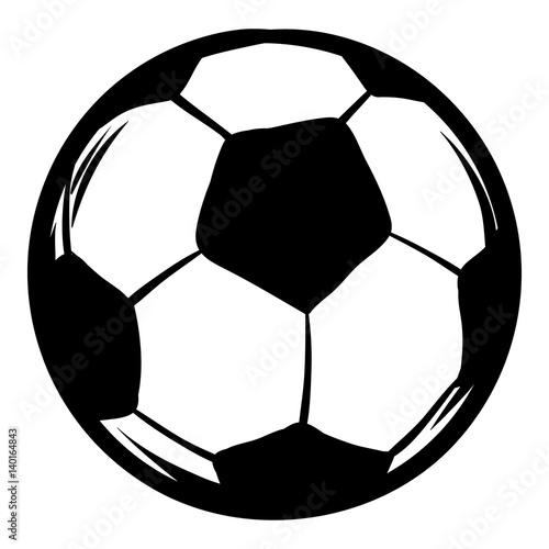 In de dag Bol Soccer icon cartoon